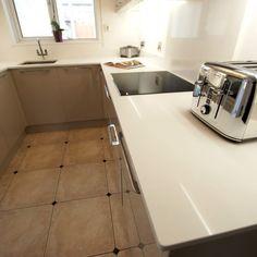 Bianco Puro - Great Amwell, Hertfordshire - Rock and Co Granite Ltd Splashback, White Quartz, Pure White, Granite, Tile Floor, Urban, Pure Products, Tile Flooring