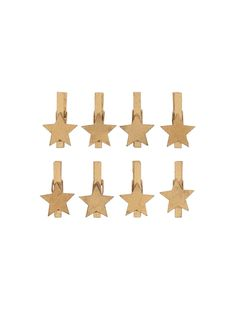 Set of 8 gold star wooden pegs, perfect for hanging Christmas cards or for using in Christmas gift wrap. Brown Christmas Wrapping Paper, Hanging Christmas Cards, Christmas Presents, Present Wrapping, Gift Wrapping Paper, Wrapping Ideas, Rico Design, Wooden Pegs, Gold Stars
