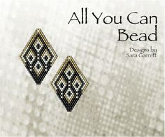 Peyote Earrings Pattern 101 Bead Weaving INSTANT DOWNLOAD PDF