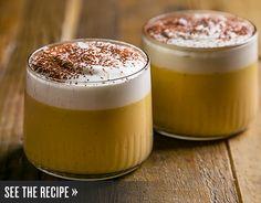 Maple pot de creme with bourbon cream