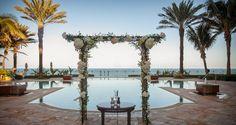 Eau Palm Beach, FL ocean front wedding