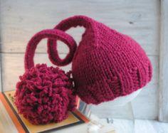Recién nacido de punto sombrero sombrero de elfo por SolKaProps