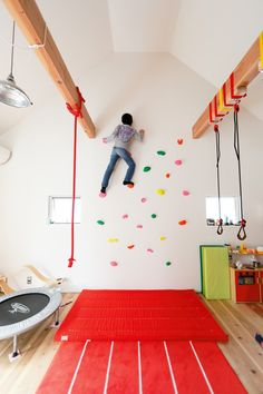 Home Gym Interior Sports 60 Ideas Cool Kids Rooms, Kids Room Paint, Room Kids, Home Climbing Wall, Gymnastics Room, Gym Interior, Kids Gym, Kids Room Organization, Toy Rooms