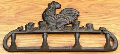 Cast Iron Rooster Coat Hook