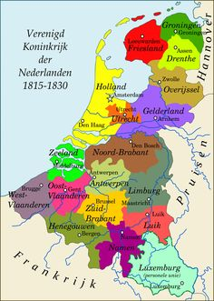 United Kingdom of the Netherlands, 1815-1830. Ruled by King Willem (William) I. In 1830 the south declared independency and the state of Belgium was born.