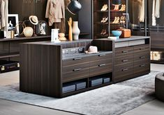 The best of luxury closet design in a selection curated by Boca do Lobo to inspire interior designers looking to finish their projects. Discover unique walk-in closet setups by the best furniture makers out there.