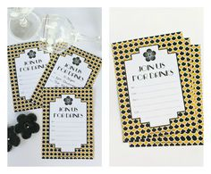 Free Printable Art Deco Drinks Invitation @Love That Party