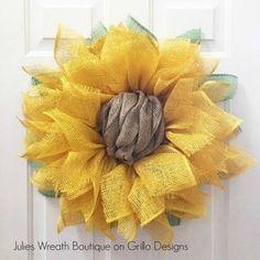 Sunflower Wreathgoodhousemag