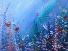 Original Acrylic painting 'Wildflower Meadow' by by CatrinSaywell