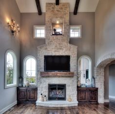 19 exciting stone fireplace ideas images fireplace ideas stone rh pinterest com  stone veneer fireplace surround ideas