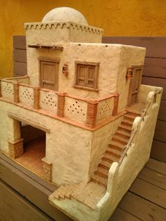 Belenismo Forum - Commercial announcements - individuals -> Accessories of nativity . Diy Nativity, Christmas Nativity, Minecraft Projects, Minecraft Houses, Mud House, Tiny House, Desert Homes, Ceramic Houses, Miniature Houses