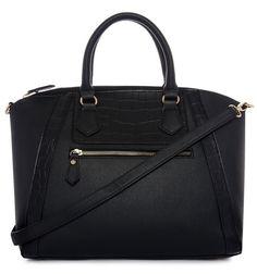 Black big tote bag / Handbag Atmosphere 2015