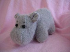 Hippo Stuffed wool Sewing Pattern PDF by KikiKreation on Etsy, $7.50