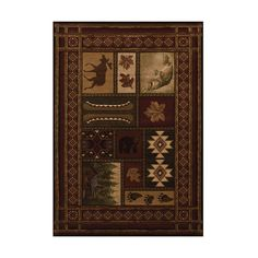 United Weavers Contours Cabin Chalet Toffee Rectangular: 7 Ft 10 In x... ($361) ❤ liked on Polyvore featuring home, rugs, polypropylene rugs, olefin rug, plush area rugs, rectangular area rugs and rectangular rugs