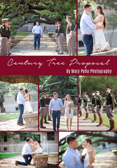 An Aggie Proposal under the Century Tree with a Corps of Cadets Sabre Arch by Mary Peña Photography . . . #centurytree #shesaidyes #aggieweddings #aggiebride #corpsofcadets #tamu #collegestationweddingphotographer #collegestationweddings #houstonbrides #texasweddingphotographer #proposal #proposalphotography #thatsdarling #marypenaphotography