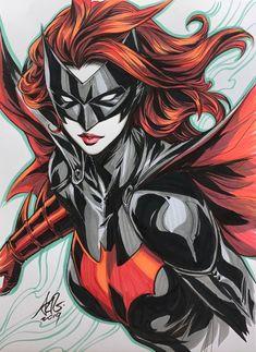 Batwoman by Artgerm Batwoman, Batgirl, Comic Book Characters, Comic Character, Comic Books Art, Arte Dc Comics, Marvel Comics, Dossier Photo, Stanley Lau