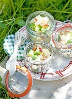 Aardappelsalade met ham -