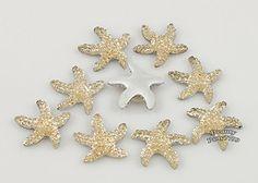 Starfish Embellishment   ... Glitter Starfish Crystal Flatback Scrapbooking Embellishment   eBay