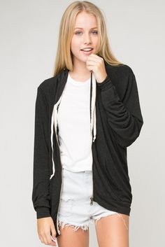 I found one of these hoodies at the Norstrom Rack for way cheaper than the ones at brandy Summer Outfits, Cute Outfits, Hoodie Outfit, Outfit Goals, Sweater Jacket, Dress Me Up, Brandy Melville, Passion For Fashion, Style Inspiration