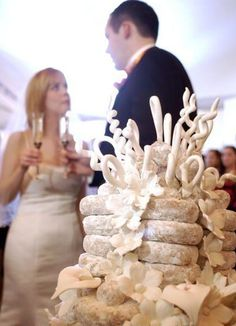 another donut wedding cake tower Donut Wedding Cake, Dessert Bar Wedding, Wedding Donuts, Themed Wedding Cakes, Wedding Cakes With Cupcakes, Wedding Desserts, Wedding Cake Toppers, Cupcake Cakes, Donut Cakes