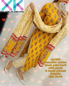 Dupatta Sets Womens Designer Kurta Sets Kurta Fabric: Rayon Bottomwear Fabric: Rayon Fabric: Chiffon Sleeve Length: Three-Quarter Sleeves Set Type: Kurta With Dupatta And Bottomwear Bottom Type: Pants Pattern: Printed Multipack: Single Sizes: XL (Bust Size: 42 in, Kurta Length Size: 46 in, Bottom Waist Size: 32 in, Bottom Length Size: 38 in, Duppatta Length Size: 2 m)  L (Bust Size: 40 in, Kurta Length Size: 46 in, Bottom Waist Size: 30 in, Bottom Length Size: 38 in, Duppatta Length Size: 2 m)  M (Bust Size: 38 in, Kurta Length Size: 46 in, Bottom Waist Size: 28 in, Bottom Length Size: 38 in, Duppatta Length Size: 2 m)  XXL (Bust Size: 44 in, Kurta Length Size: 46 in, Bottom Waist Size: 34 in, Bottom Length Size: 38 in, Duppatta Length Size: 2 m)  Country of Origin: India Sizes Available: M, L, XL, XXL   Catalog Rating: ★4 (533)  Catalog Name: Women Cotton Straight Printed Long Kurti With Palazzos CatalogID_2024371 C74-SC1853 Code: 166-10941487-2481