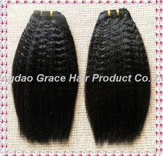 brazilian hair kinky straight hair weft100% virgin natural softnatural color can be dyedFree tangleFull cuticle in same