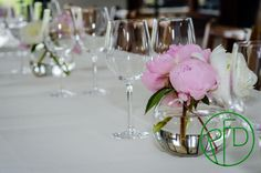 peonies in a bowl. no need for more stuff.#wedding ideas