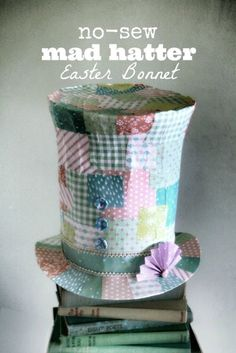 Project : Mad Hatter Easter Bonnet by Magdalena Franco Crazy Hat Day, Crazy Hats, Easter Activities, Easter Crafts For Kids, Easter Stuff, Craft Activities, Easter Hat Parade, Somebunny Loves You, Diy Ostern