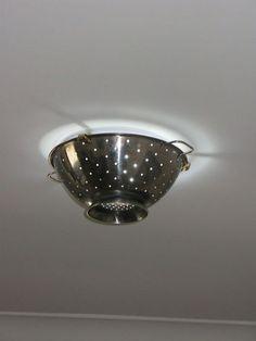 from boob light fitting to funky colander light, lighting, repurposing upcycling, Voila