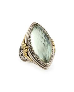Marquis Ring w/ Green Amethyst, Size 5 by Konstantino at Neiman Marcus Last Call.