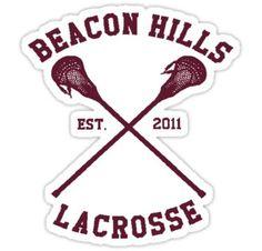 'Beacon Hills Lacrosse - Teen Wolf' Sticker by TrashPhotoShop Dylan O'brien, Beacon Hills Lacrosse, Stickers, Instagram, Artwork, Prints, Phone Cases, Teen Wolf, The Originals