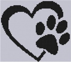 Looking for your next project? You're going to love Paw Heart Cross Stitch Pattern by designer Motherbeedesigns. Looking for your next project? You're going to love Paw Heart Cross Stitch Pattern by designer Motherbeedesigns. Cross Stitching, Cross Stitch Embroidery, Embroidery Patterns, Hand Embroidery, Cross Stitch Heart, Cross Stitch Animals, Cross Heart, Pixel Art Coeur, Broderie Bargello