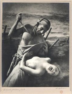 """William Mortensen, """"An Episode of the Barbary Coast [also titled: The Spanish Main]"""" (ca. 1932), vintage silver print using a texture screen"""