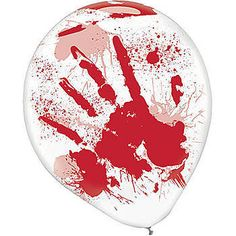 Our Asylum Printed Latex Balloons have the look of horrifying bloody hand prints and blood splatters. These 13 inch latex balloons come in a package of 6.