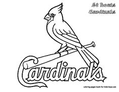 Cute Cardinal Coloring Page