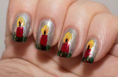 Lacky Corner: Winter Nail Art Challenge - Christmas Candles