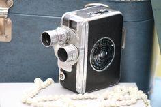 Vintage antique 8mm Dejur movie camera - vintage wedding centerpiece, ventage wedding decor on Etsy, $35.00