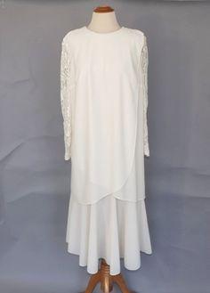 804f1f81973 PLUS SIZE Vintage 1970s does 1920s Dress Ivory White 20s Drop Waist Dress  1920s Lace Flapper Dress Party Dress Gatsby Bride Wedding Dress