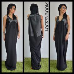 Long dress/Black sleevles dress /Black Long Dress /Woman black dress /Black Oversize dress/ Casual black dress /Daywear dress by ClothesByLockerRoom on Etsy https://www.etsy.com/uk/listing/214121010/long-dressblack-sleevles-dress-black
