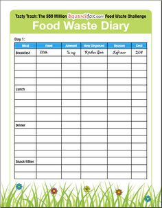Save money by keeping a Food Waste Diary | Squawkfox