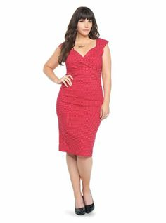 I NEED THIS WIGGLE DRESS!!! Retro Chic By Torrid - Red Polka Dot Wiggle Dress
