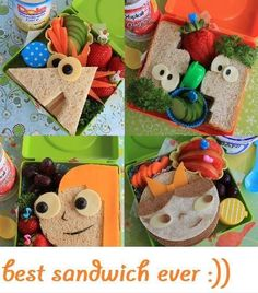 Phineas and Ferb sandwiches: Totally remembering this for next year.