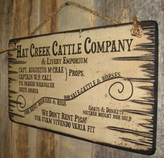 Hat Creek Cattle Company & Livery Emporium by CowboyBrandFurniture