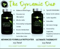 Hit a plateau? I can help. This Dynamic Duo is the way to go. Thermofit boost your metabolism allowing you to burn more calories and FatFighters block 1/3 of the fat and carbs from your meals. Contact me Today!! http://cjfite.myitworks.com