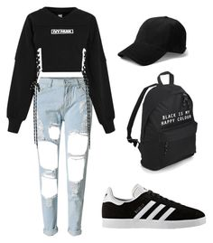 Untitled #26 by bts7chimchim on Polyvore featuring polyvore fashion style Ivy Park WithChic adidas clothing