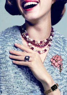 Vogue Japan August 2013 Beauty Editorial - Lumi Lambert