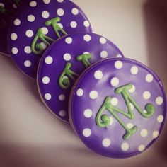 Party Decorations Purple Birthday Polka Dots 66 New Ideas Polka Dot Birthday, Polka Dot Party, Purple Birthday, Purple Party, Polka Dots, Happy Birthday, Iced Cookies, Royal Icing Cookies, Fun Cookies