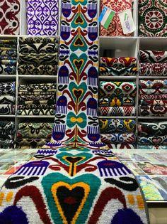 decorative fabric 3 yards ikat velvet fabrics With UPS  FEDEX tradional uzbeki fabrics