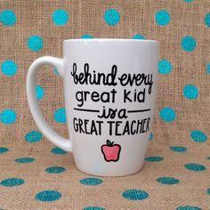 Teacher Appreciation Day Coffee Mug  Behind Every by Hinzpirations