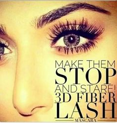 Make the STOP and STARE! 3D Fiber lash Mascara! BEST mascara EVER!